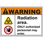 WARNING Radiation Area Sign