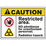 CAUTION Restricted Area Radiation Hazard Sign