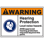 WARNING Hearing Protection Sign