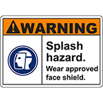 WARNING Splash Hazard Sign