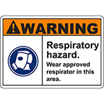 WARNING Respiratory Hazard Sign