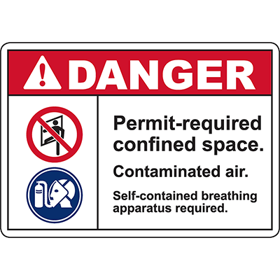 DANGER Self-contained breathing apparatus required Sign