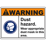 WARNING Dust Hazard Sign