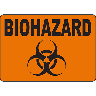 BIOHAZARD Biohazard Sign w/Symbol