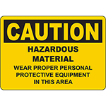 CAUTION Wear Personal Protective Equipment Sign
