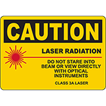 CAUTION Laser Radiation Sign
