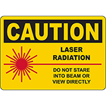 CAUTION Do Not Stare Into Beam Or View Directly Sign