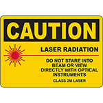 CAUTION Laser Radiation Class 2M Laser Sign