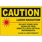 CAUTION Laser Radiation Class III Laser Product Sign