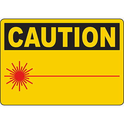 CAUTION Laser Beam (Symbol) Sign