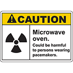 CAUTION Microwave Oven Sign