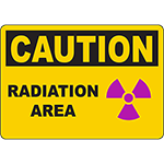 CAUTION Radiation Area Sign