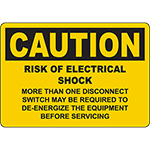 CAUTION Risk Of Electrical Shock Sign