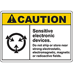 CAUTION Sensitive Electronic Devices Sign