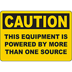 CAUTION This Equipment Is Powered By More Than One Source Sign