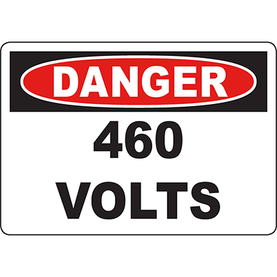 DANGER 46 Volts Sign