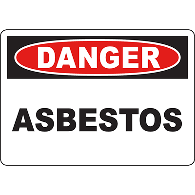 DANGER Asbestos Sign
