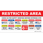 "Restricted Area Safety Briefing Banner 24"" X 48"""