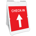 Check-In A-Frame Sign