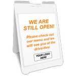 We Are Still Open A-Frame Sign