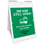 We Are Still Open Drive-Thru Only A-Frame Sign