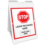 Stop Leave Packages Here A-Frame Sign