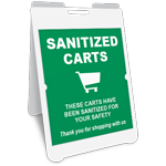 Sanitized Carts A-Frame Sign