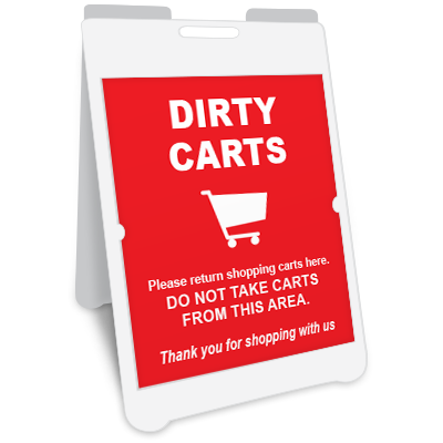 Dirty Carts A-Frame Sign