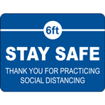 6ft Stay Safe Rectangle Floor Sign