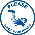 Please Wash Your Hands Floor Sign