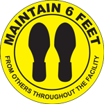 Maintain 6 Feet Floor Sign