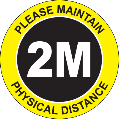 Please Maintain Physical Distance 2M Floor Sign