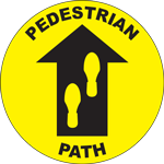 Pedestrian Path Circle Floor Sign