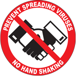 Prevent Spreading Viruses No Hand Shaking Circle Floor Sign