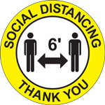 Social Distancing Thank You Circle Floor Sign