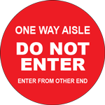 Do Not Enter One Way Aisle Circle Floor Sign