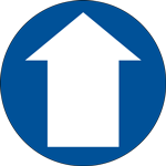 Arrow Circle Floor Sign