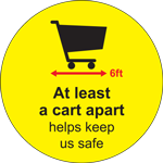 At Least A Cart Apart Circle Floor Sign