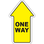 One Way Arrow Floor Sign