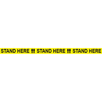 Stand Here Floor Tape