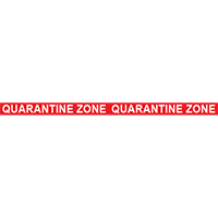 Quarantine Zone Floor Tape