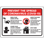PREVENT THE SPREAD OF COVID-19 SIGN