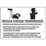 REDUCE DISEASE TRANSMISSION SIGN