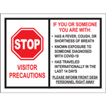 Stop Visitor Precautions Poster