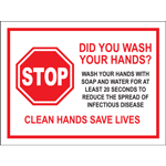 Stop Did You Wash Your Hands Poster