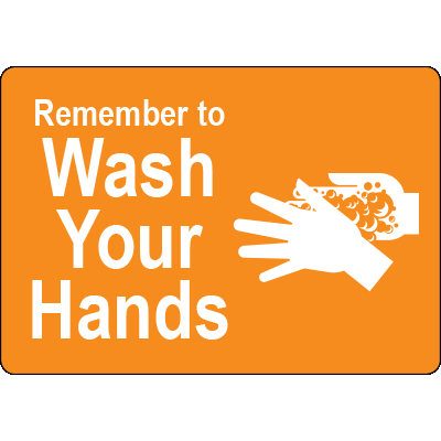 Remember to Wash Your Hands Yellow Label