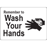 Remember to Wash Your Hands White w/Black Label