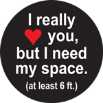 I Really Heart You But I Need My Space Label