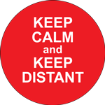 Keep Calm And Keep Distant Label