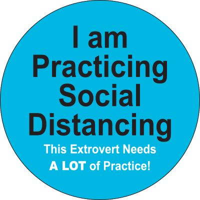 I Am Practicing Social Distancing Label